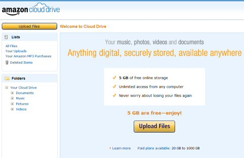 amazon cloud drive free download
