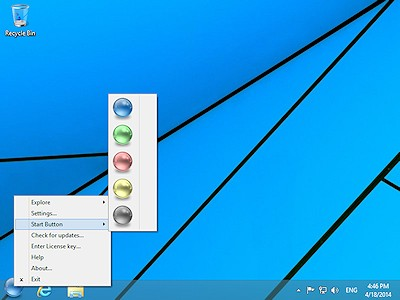 You can choose a Start button of a different color for your Windows 8 desktop