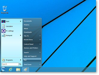 StartFinity Start Menu for Windows 8. (Click to enlarge)