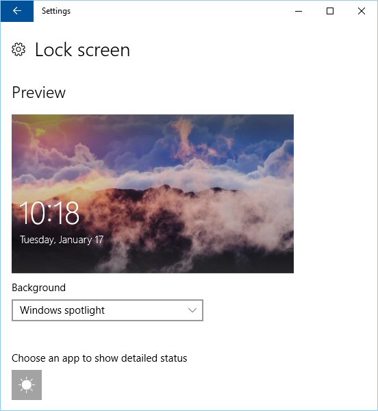 Enabling the Windows spotlight option for the lock screen
