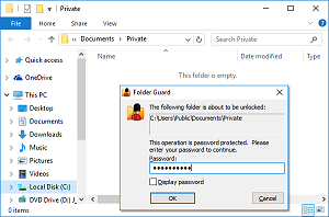 Folder Guard: Powerful password protection software for Windows 8, 7