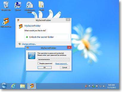 Hide and password-protect your personal folder with MySecretFolder