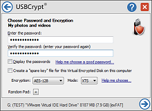 USBCrypt encrypts your files